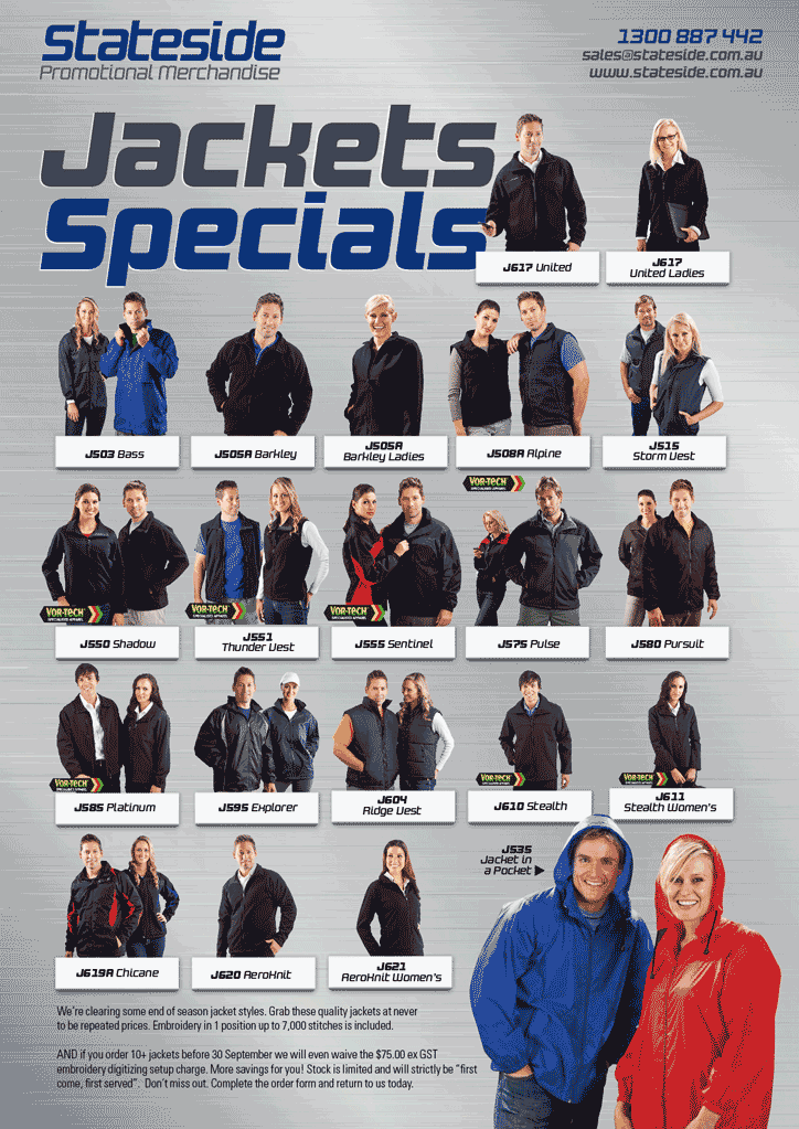 Stateside Jacket Specials September 2013