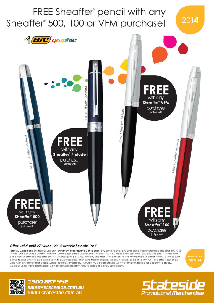 FREE Sheaffer® Pencils with Purchase